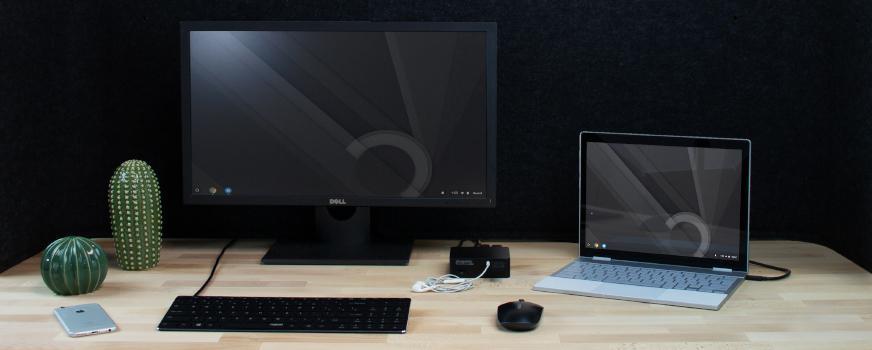 generic desk setup