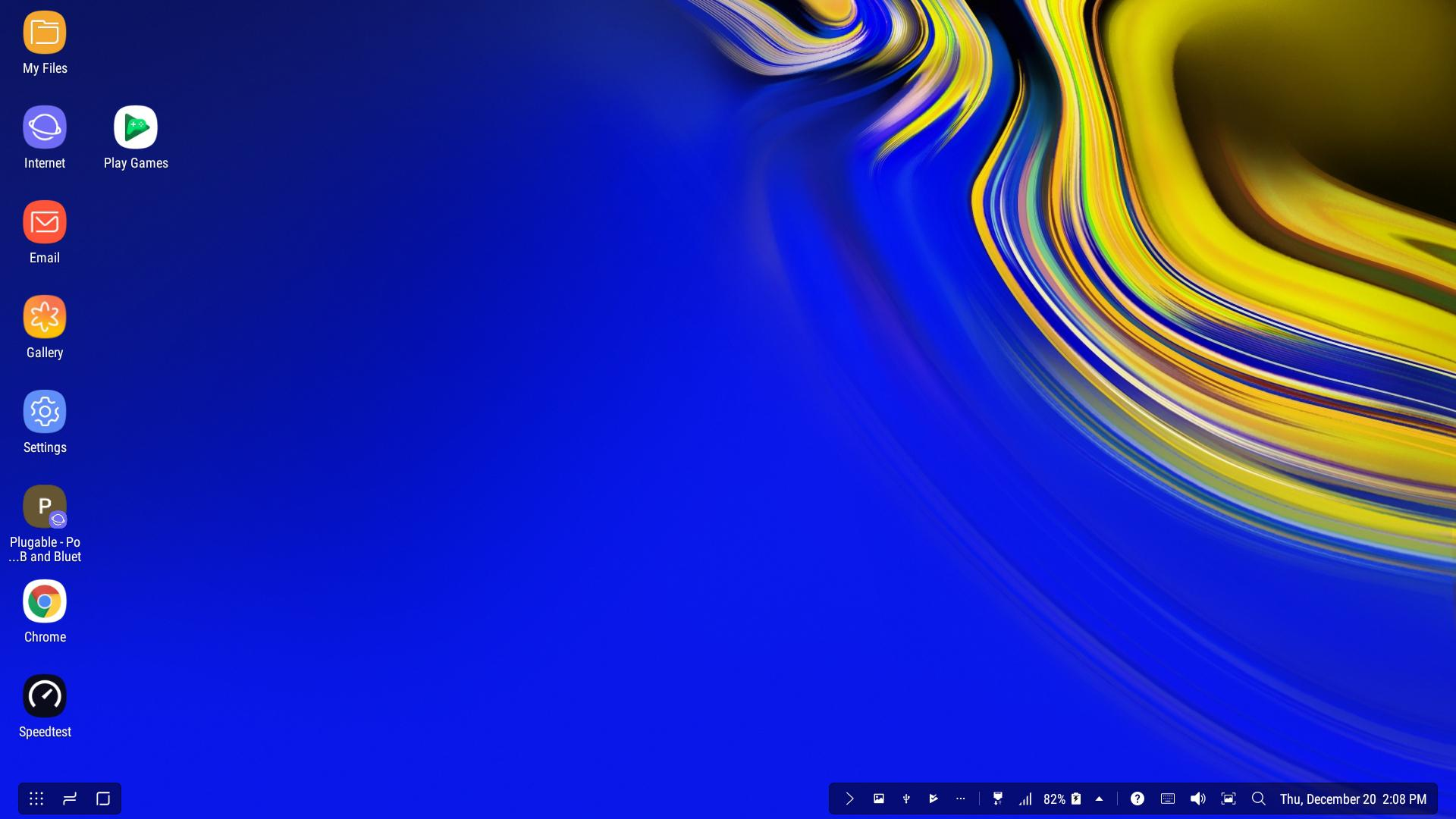 Desktop view from our Samsung Galaxy Note 9 with DeX!