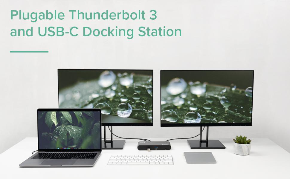 Plugable's Thunderbolt 3 and USB-C Docking Station