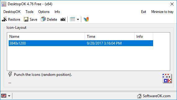 DesktopOK window