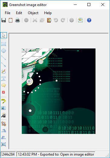 Greenshot image editor window