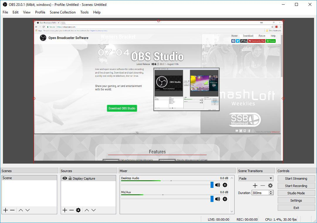 Open Broadcaster Software Studio