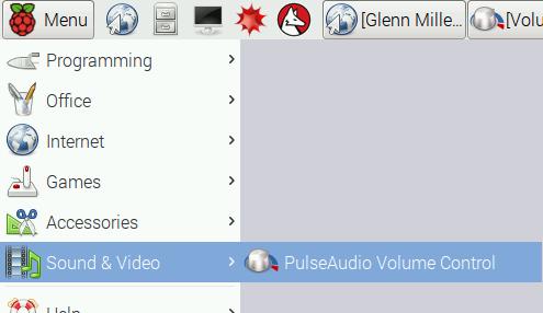 Opening PulseAudio Volume Control