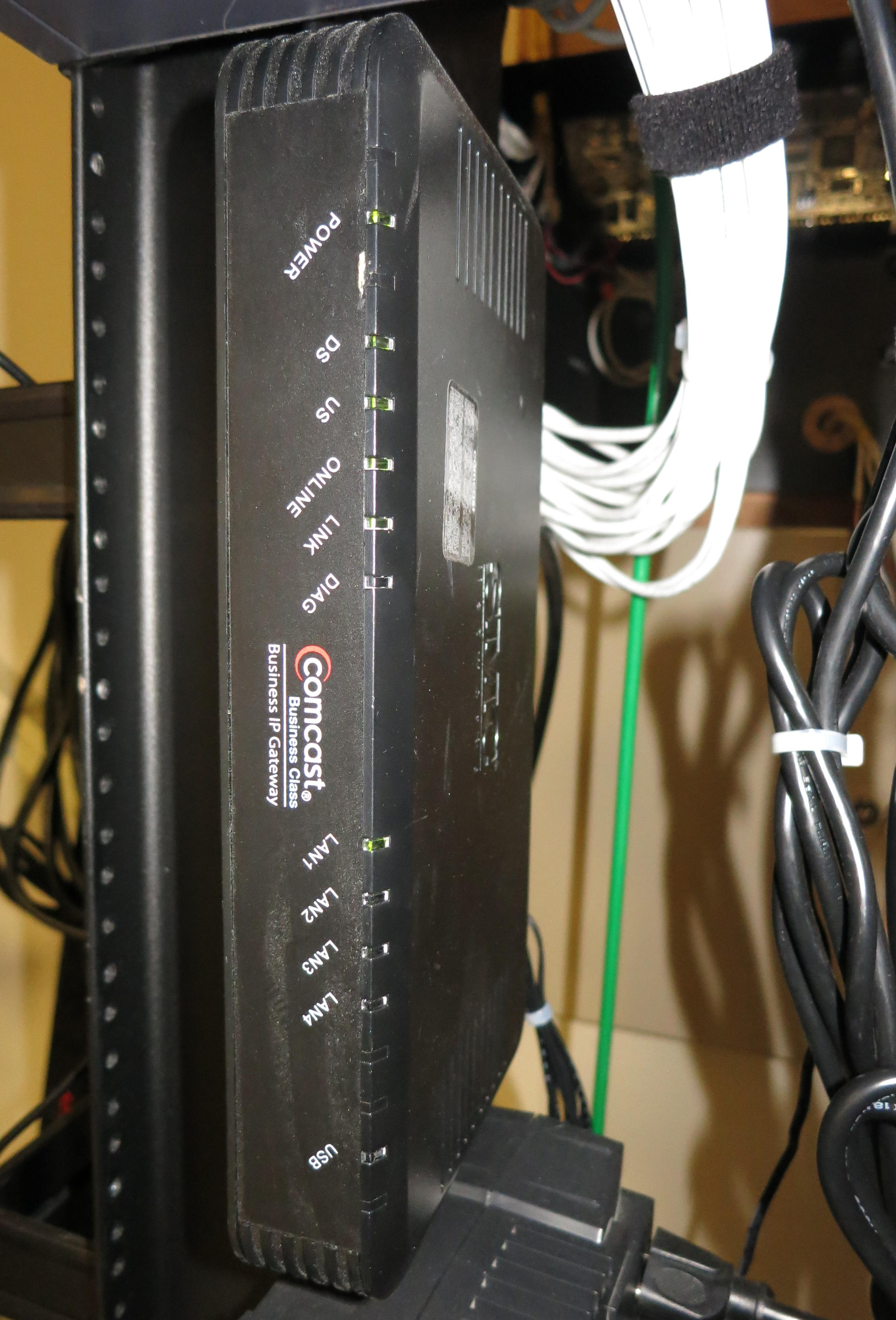 A router with WiFi and LAN capabilities