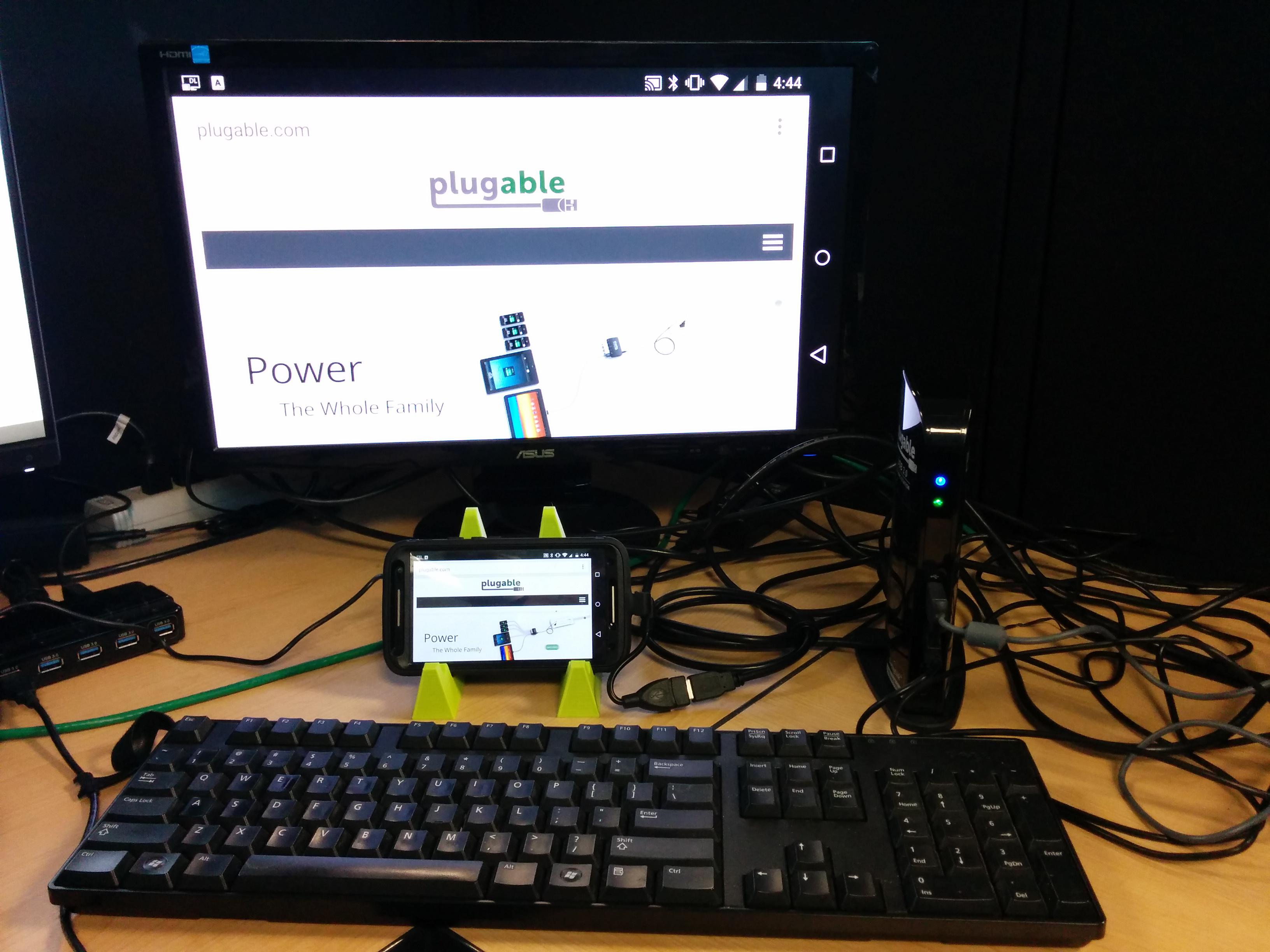 Connecting an Android phone to multiple peripherals using a Plugable UD-3000