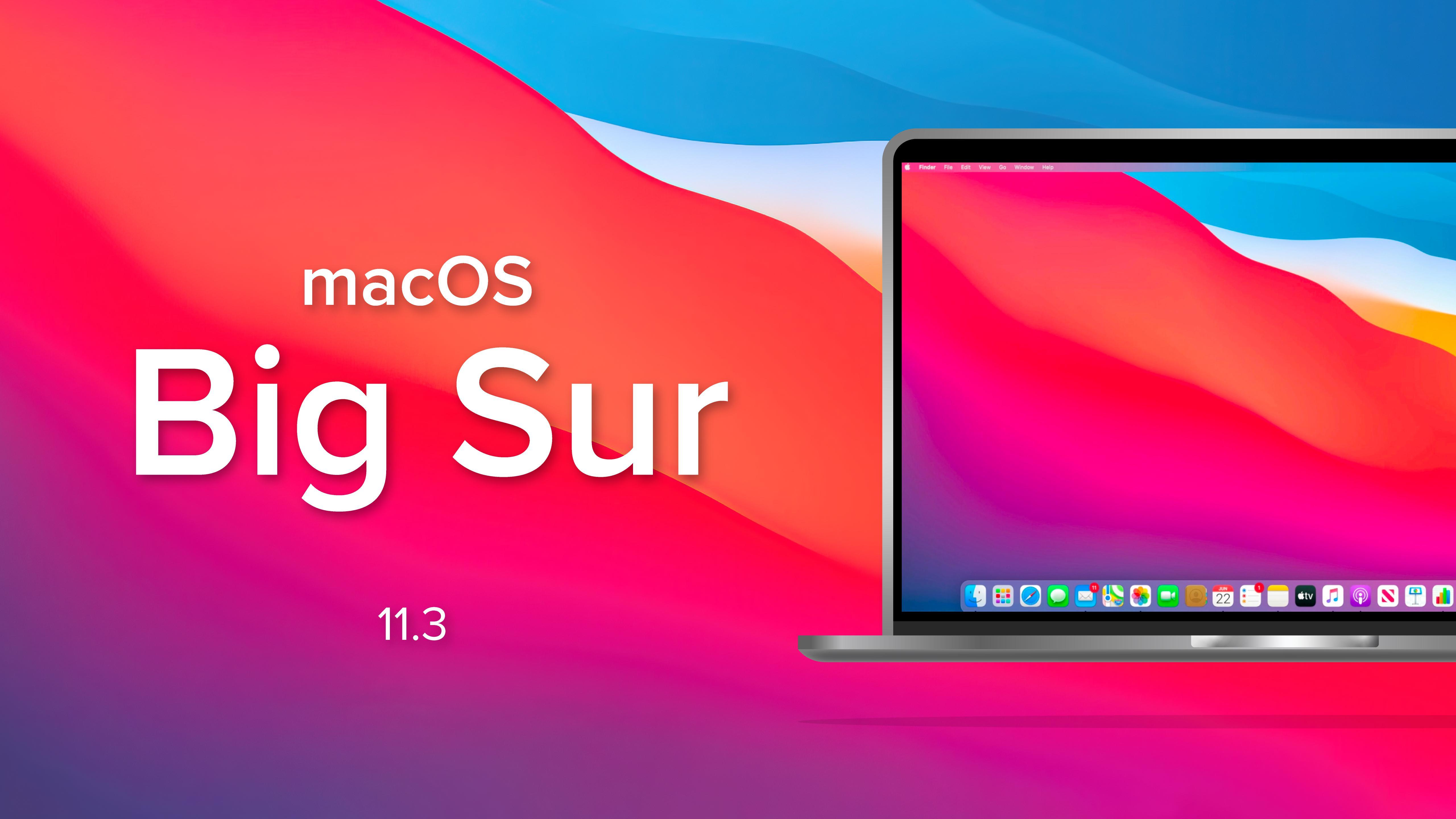Laptop with macOS Big Sur