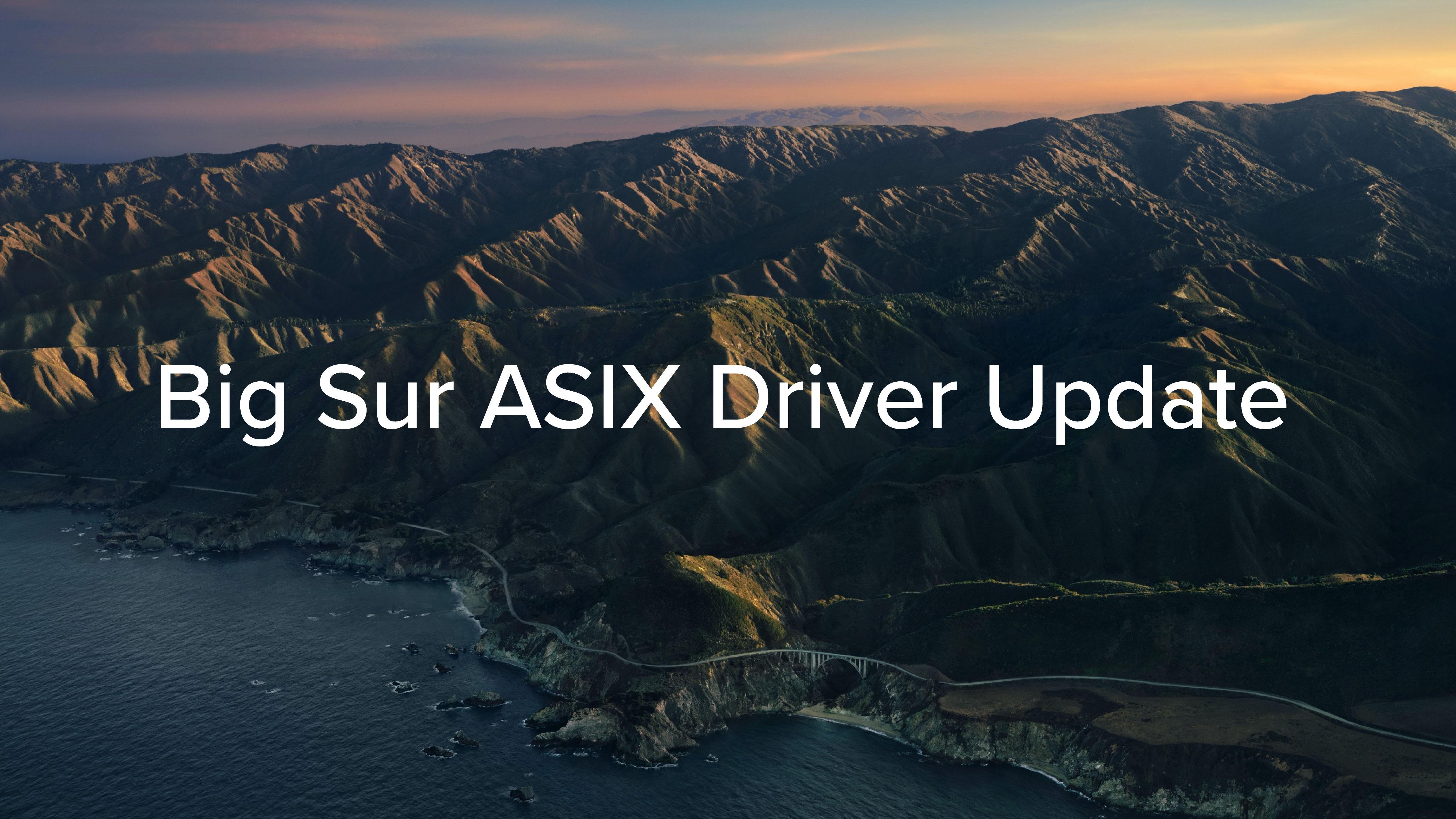 New ASIX Driver announcement