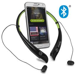 Thumbnail of Bluetooth Wireless Flexible Neckband Headset with phone