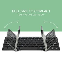 Thumbnail of Folding Action Image of the Bluetooth Full-Size Folding Keyboard