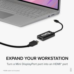 Thumbnail of MDP-HDMI lined up with laptop and HDMI cable