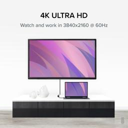 Thumbnail of Laptop connected to 4K television with MDP-HDMI