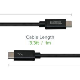 Thumbnail of Image of Thunderbolt3 20Gigabit per second 1 meter cable used on a computer