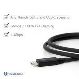 Thumbnail of 40 gbps, 5amps/100w charging, compatible with Thunderbolt 3 and USB-C Compatibility