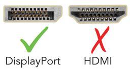 Thumbnail of Displayport Yes, HDMI no,