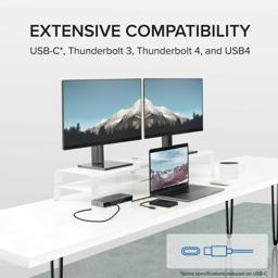 Thumbnail of Compatible with USB-C, Thunderbolt 3, Thunderbolt 4, and USB4