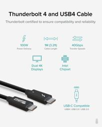 Thumbnail of Main image of the Plugable TBT4-40g1m cable