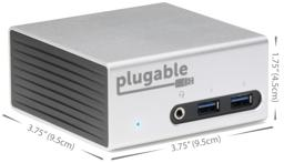 Thumbnail of Dimensions of the UD5900 4K Aluminum Mini Docking Station