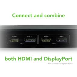 Connect and combine HDMI and DisplayPort