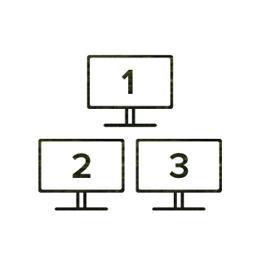 Three displays