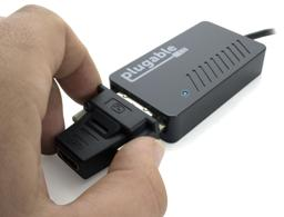 Thumbnail of Image of the UGA-3000 being attached to the passive DVI-to-HDMI adapter