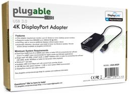 Thumbnail of Image of the back of the Plugable Graphics Adapter packaging with product features and system requirements