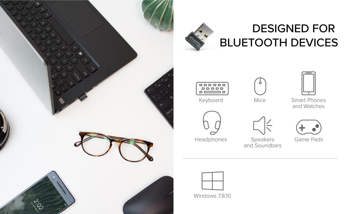Overview of device and host support for the Plugable Bluetooth adapter