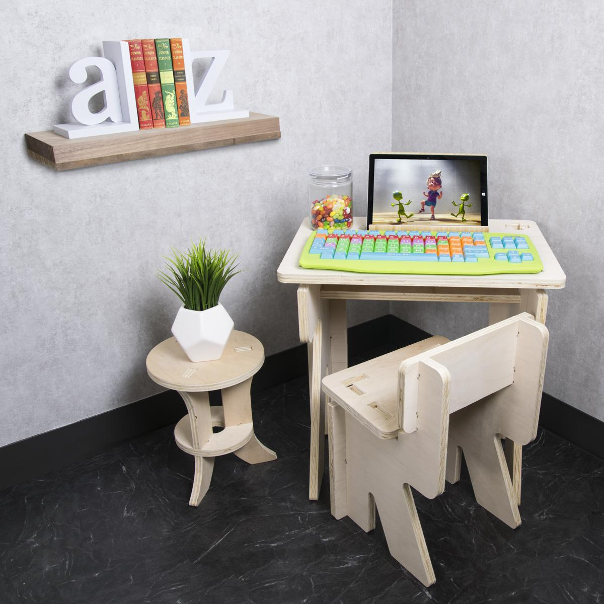 Kids keyboard on a desk