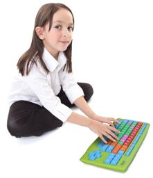 Thumbnail of Child using the keyboard
