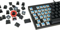 Thumbnail of keyboard switches shown with keycaps removed