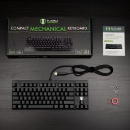 Thumbnail of packaging and contents of the 87-key mechanical keyboard