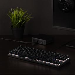 Thumbnail of in-use image of the tenkeyless 87-key mechanical keyboard with red-style switches