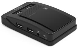 Thumbnail of side image of the Plugable USB 2.0 7-Port Hub with 15W Power Adapter