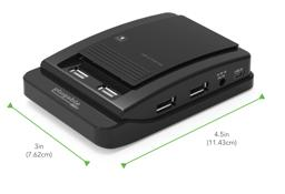 Thumbnail of Dimensions of the Plugable USB 2.0  7-Port Hub with 15W Power Adapter