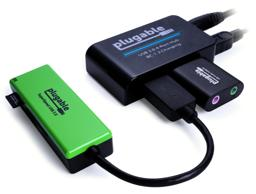 Thumbnail of In-Use Image of the Plugable USB 2.0 4-Port Hub with 12.5W Power Adapter