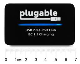 Thumbnail of Dimensions of the Plugable USB 2.0 4-Port Hub with 12.5W Power Adapter