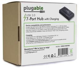 Thumbnail of Back Packaging of the USB 2.0 7-Port Hub with 60W Power Adapter