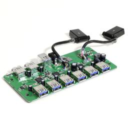 Image of the Plugable 10-port hub's chipsets