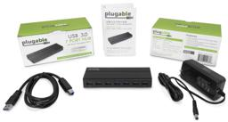 Thumbnail of Packaging and Contents of the USB 3.0 7-Port Hub