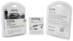 Thumbnail of Image of the packaging and manual for the Plugable Transfer Cable