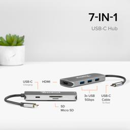 Thumbnail of USB-C hub connected to laptop and monitor
