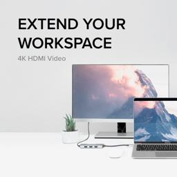 Thumbnail of USB-C hub connected to USB-C charger