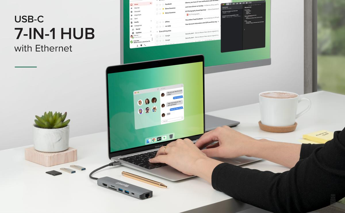 USBC 7-in-1 hub with Ethernet
