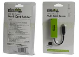 Thumbnail of Image of the product packaging for the Plugable USB-C Flash Memory Card Reader