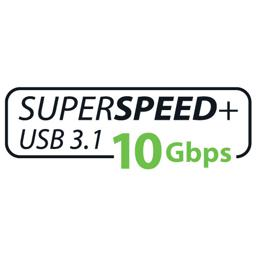 Superspeed + USB 3.1 10Gbps logo
